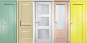 Dažyto MDF durys